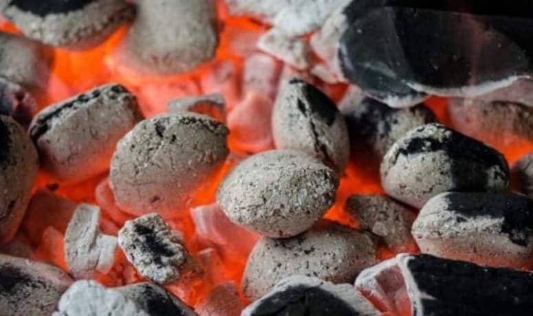 Heating Charcoal Grill
