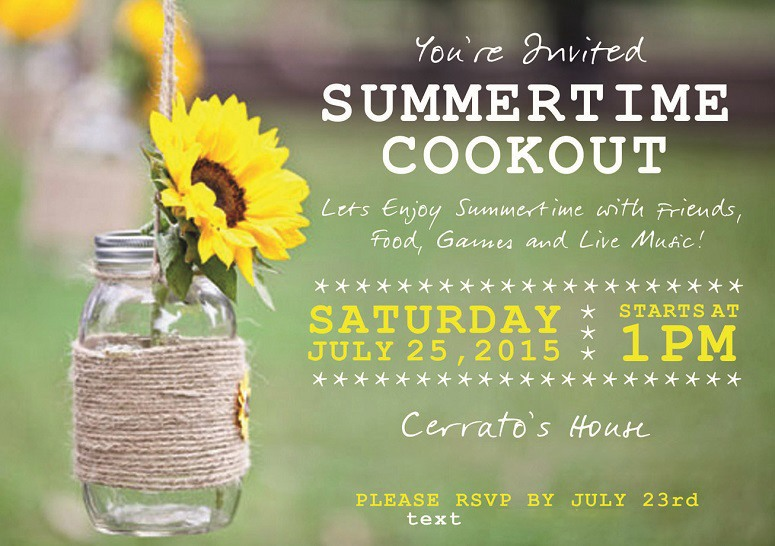 Summer Cookout Invite
