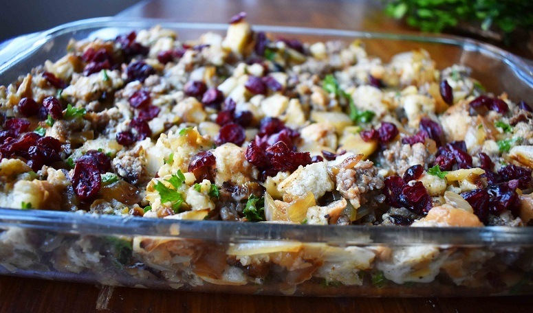 Sausage, Cranberry And Pumpkin Stuffing