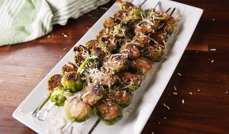 Delish Grilled Brussels Sprouts