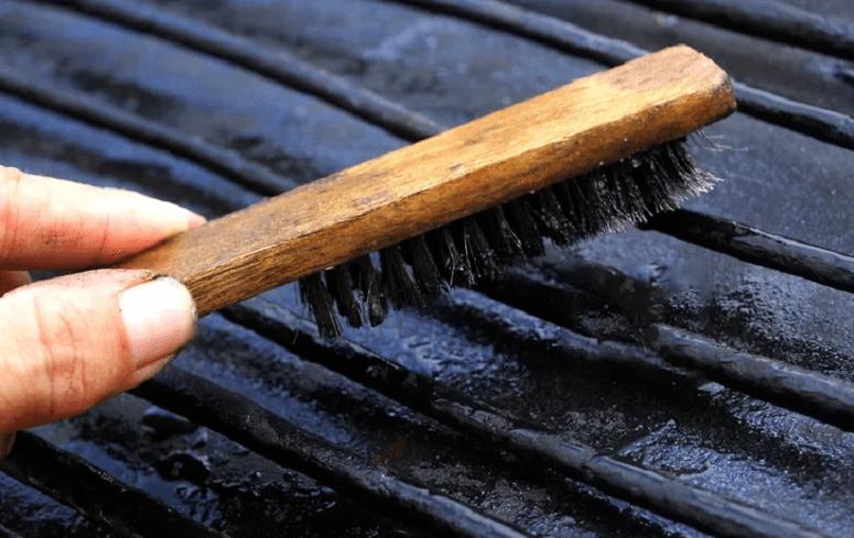 Using Grill Brush