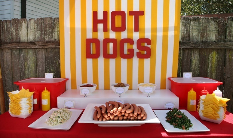 Hot Dogs And Condiments