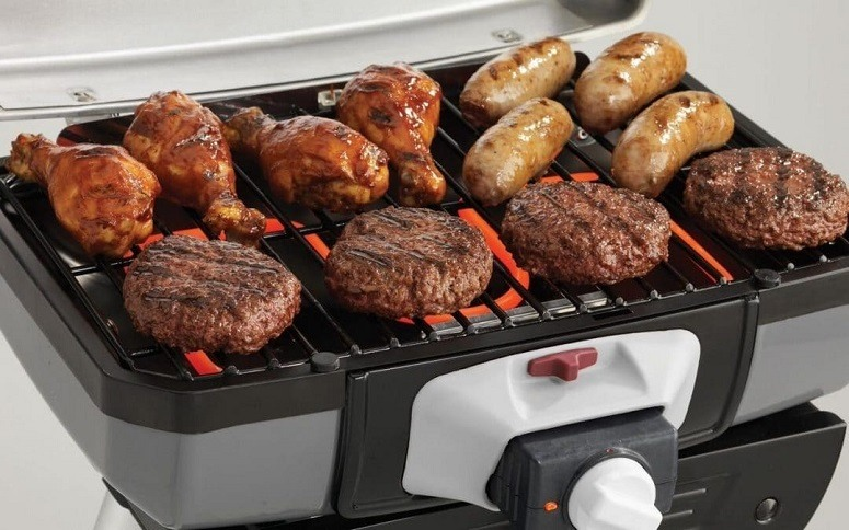 Cooking Meat On Electric Grill