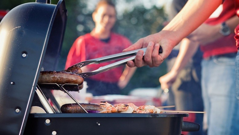 BBQ On Tailgate Party