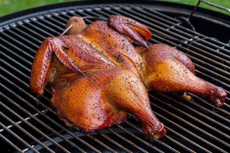 Chicken On Weber Smoker