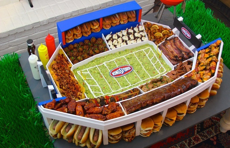 Food In Shape Of The Stadium