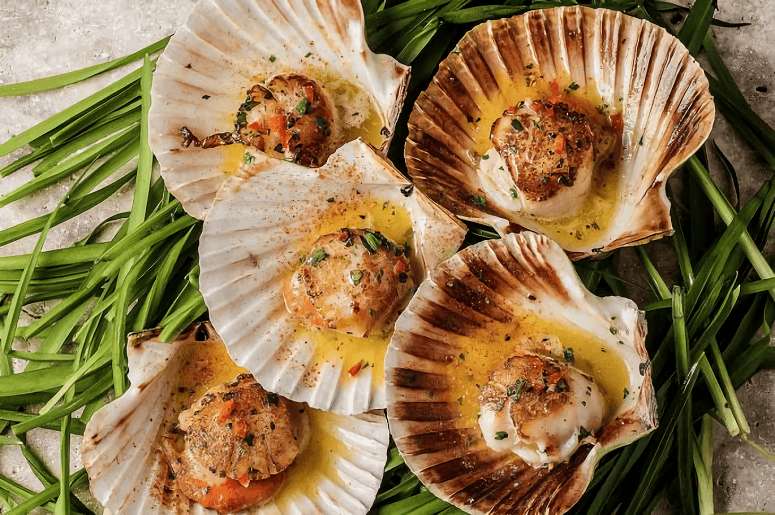 Scallops With Chili Garlic Butter