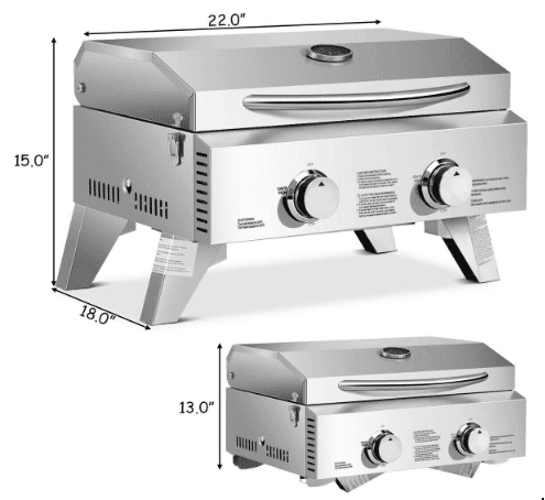 Dimensions of a grill
