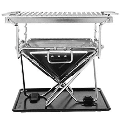 Vbestlife Outdoor Compact Foldable Portable Charcoal Barbeque BBQ Grill Stainless Steel