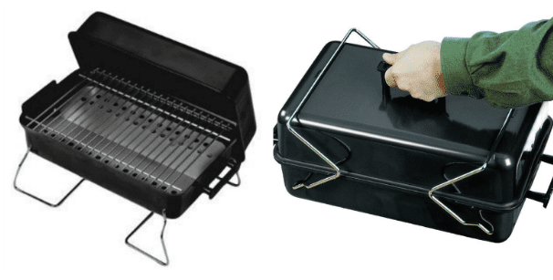 Picture of A BBQ with and without lid