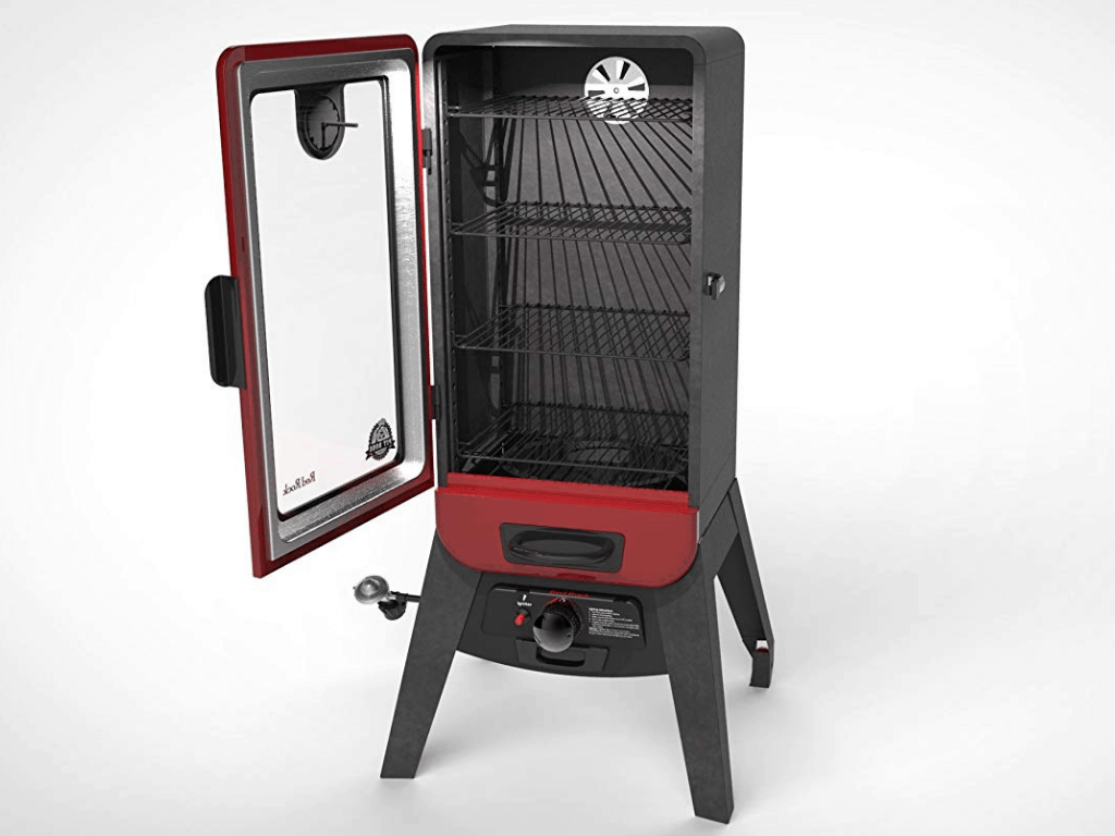 Image of the inside of Pit Boss Grills 77435 Vertical Lp Gas Smoker