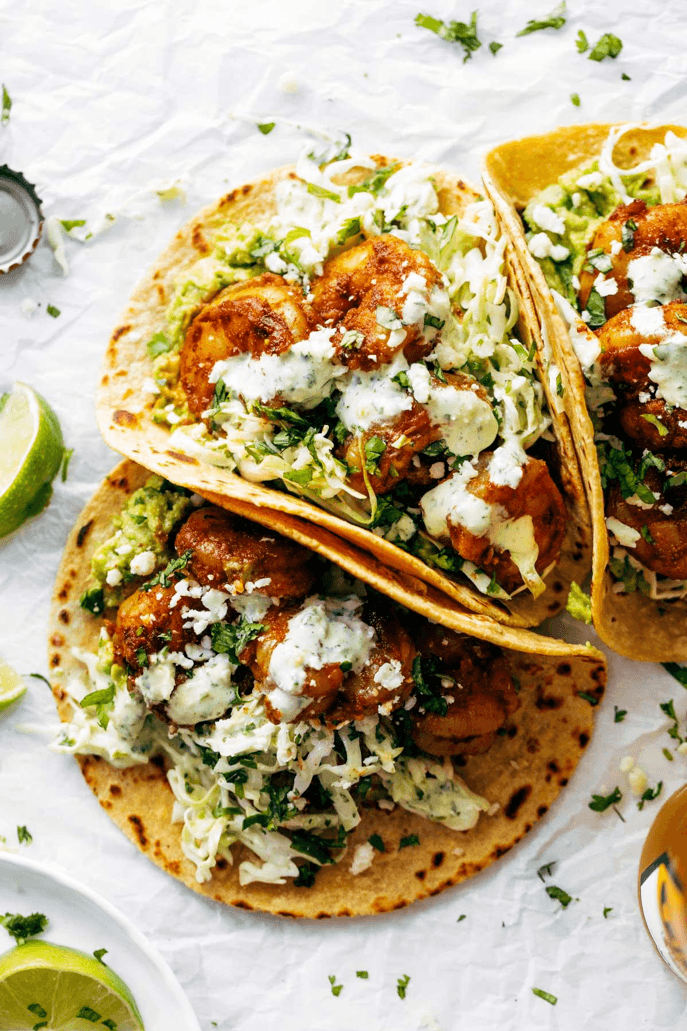5. Creamy Grilled Shrimp Tacos