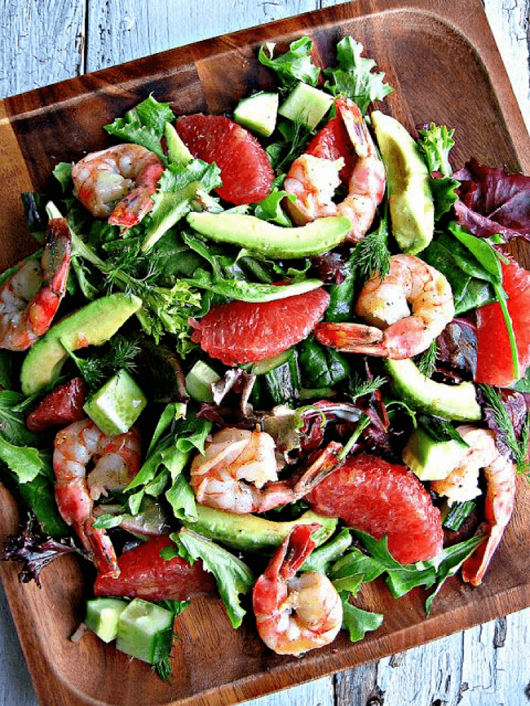 6. Calypso Shrimp with Grapefruit Salad