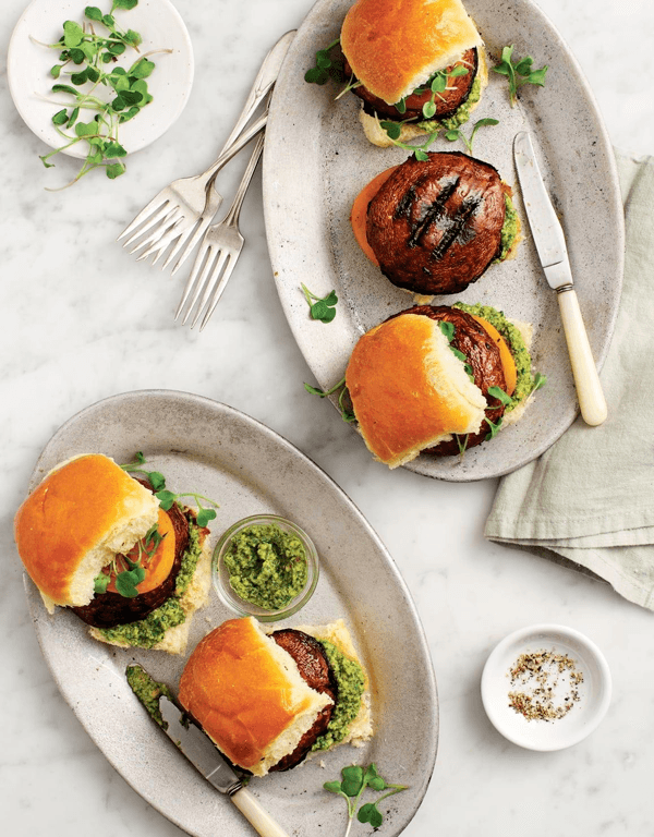 3. Portobello Sliders with Pepita Pesto