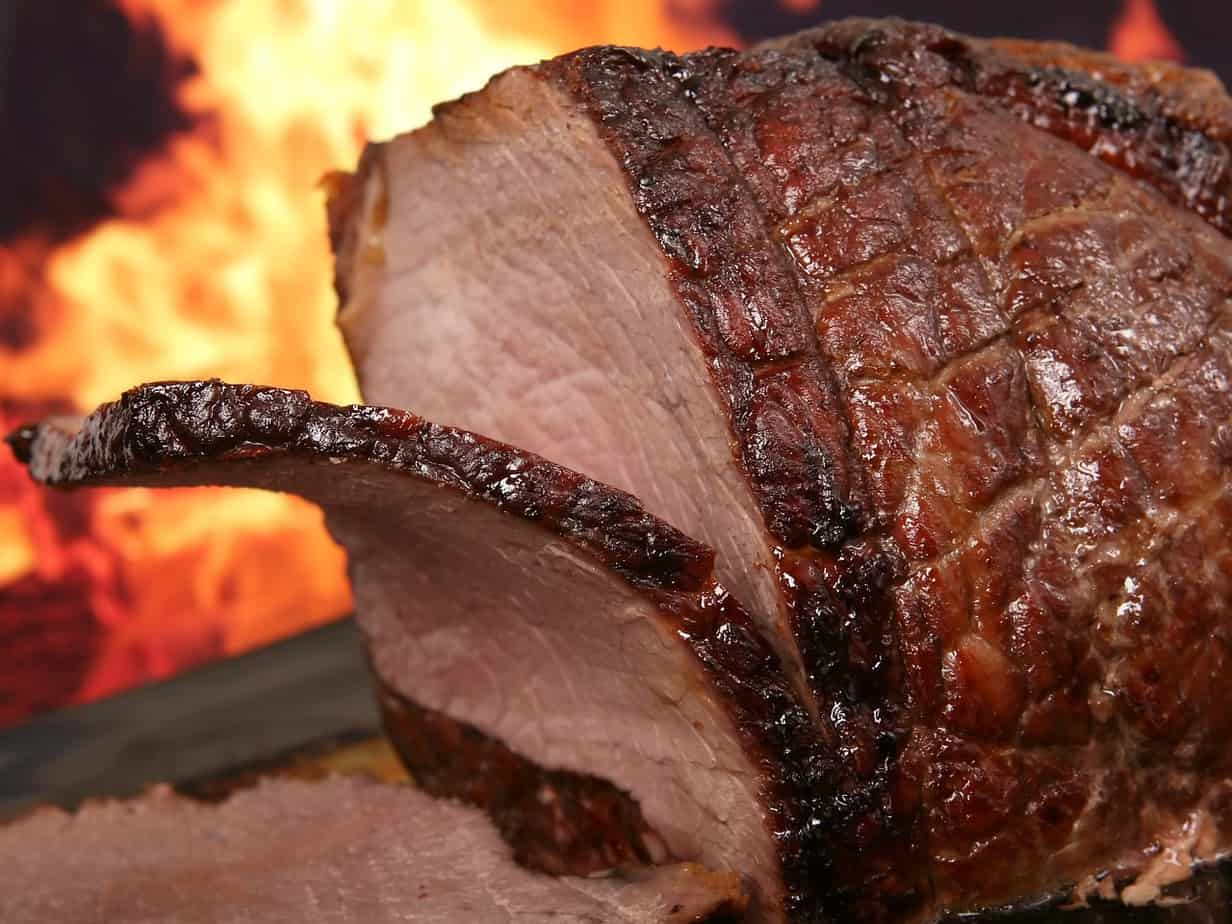 how to smoke brisket with an electric smoker feature image