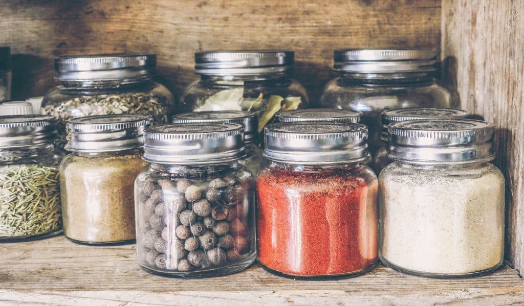 smoked meat spices in mason jar on shelf