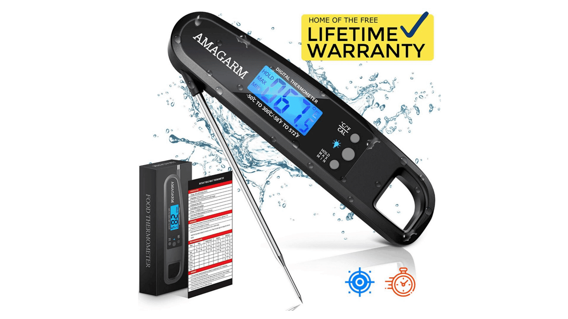 Product image of AMAGARM Digital Meat Thermometer
