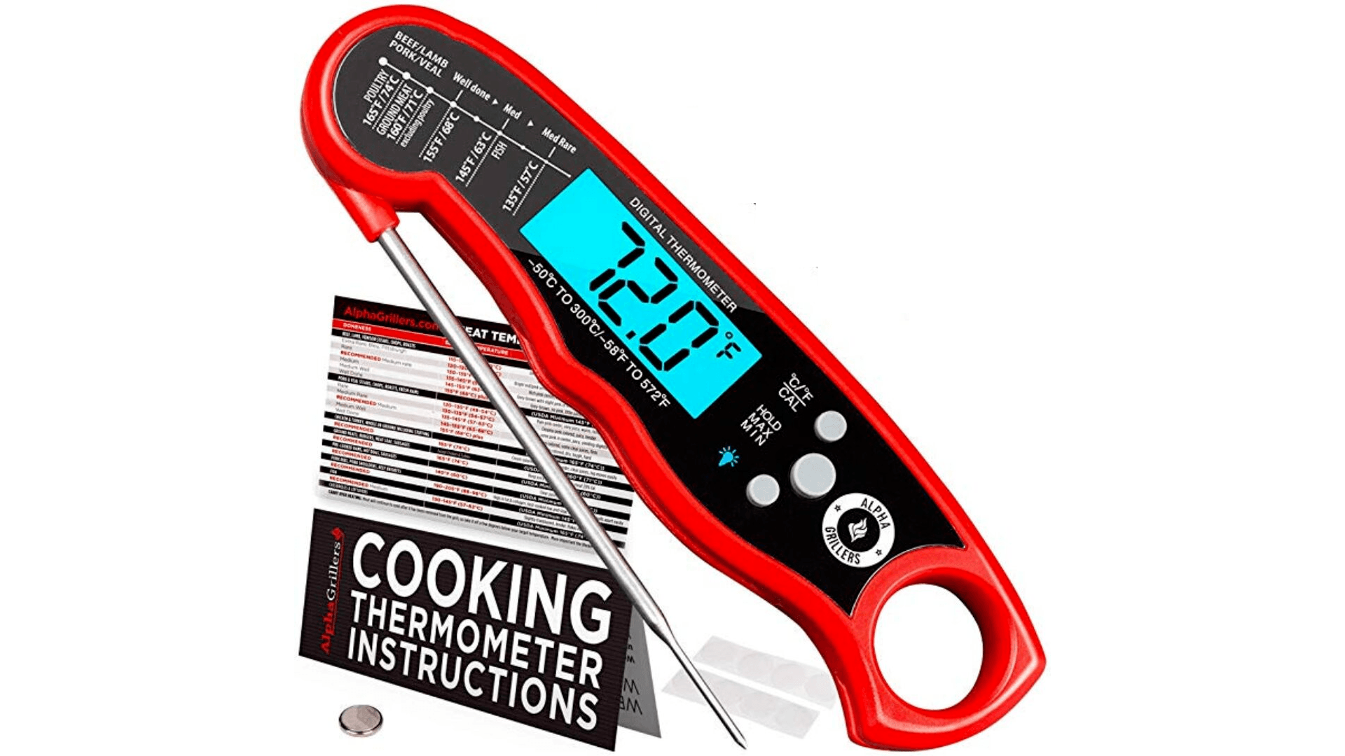 product image of Alpha Grillers Instant Read Meat Thermometer