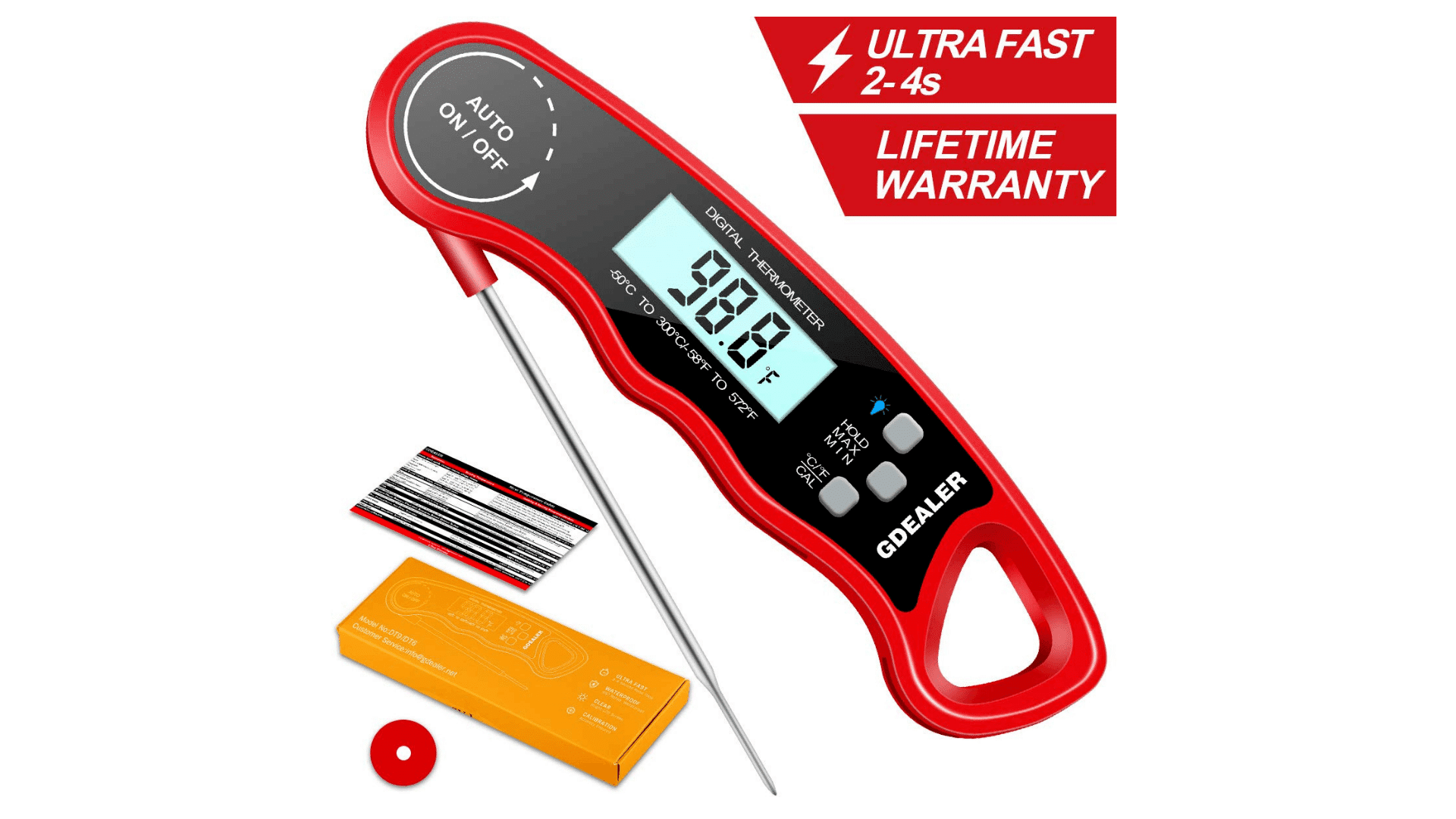 Product image GDEALER DT09 Waterproof Digital Instant Read Meat Thermometer