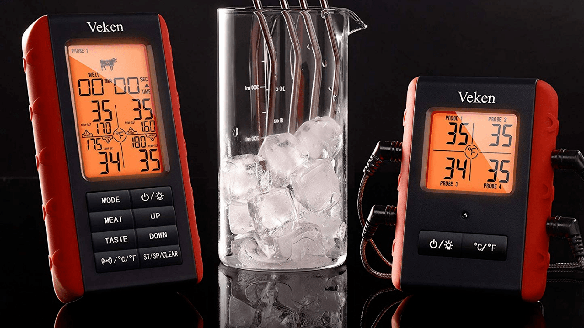 Picture of Veken BBQ Wireless Meat Grill Thermometer temperature