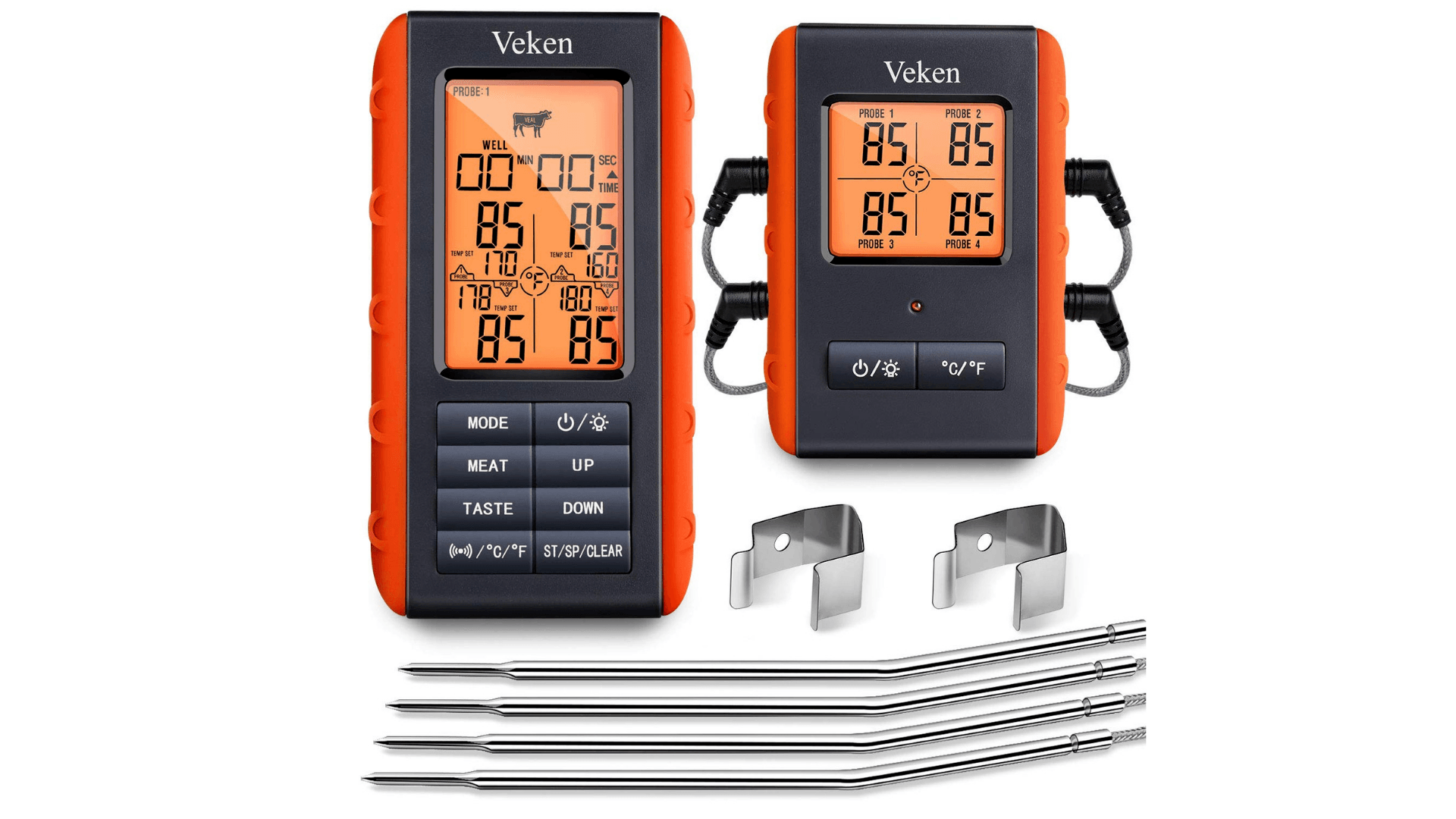 Product Image of Veken BBQ Wireless Meat Grill Thermometer