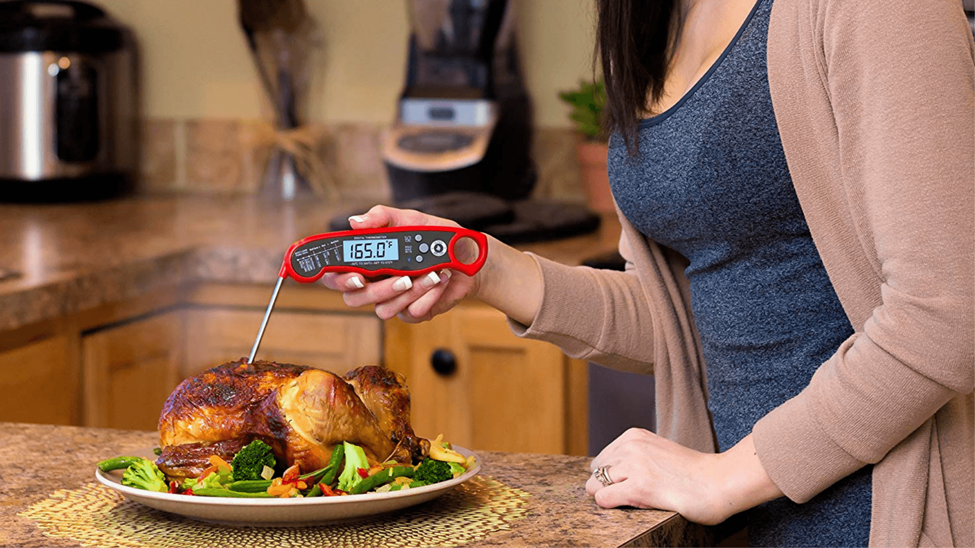 instead read meat thermometer in chicken