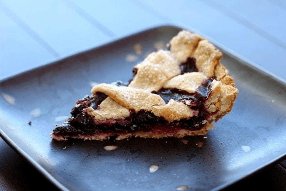Grilled Blueberry Lemon Pie