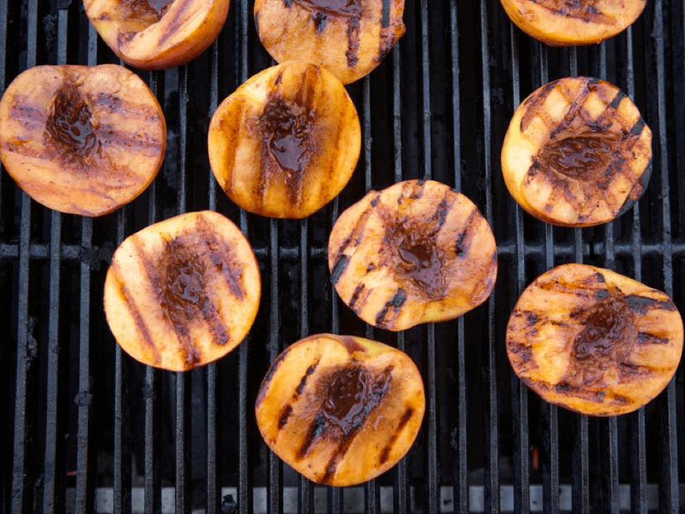 Grilled Peaches with Bourbon Butter Sauce