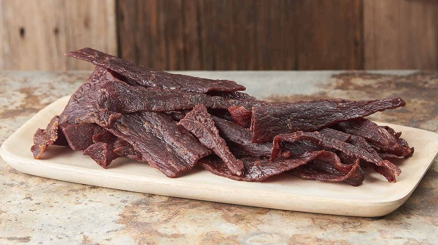 SWEET AND SPICY SMOKED BEEF JERKY