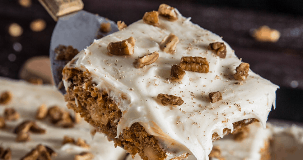 Carrot Cake on the Grill