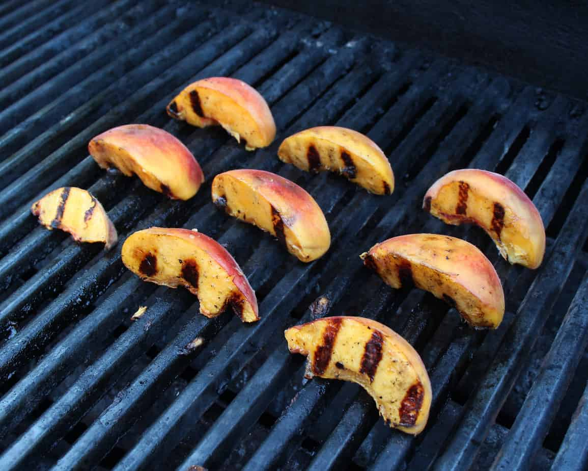 picture of how to grill peaches on bbq