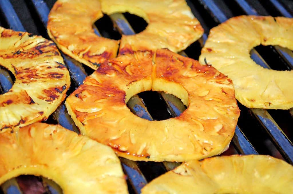 image of how to grill pineapple on bbq