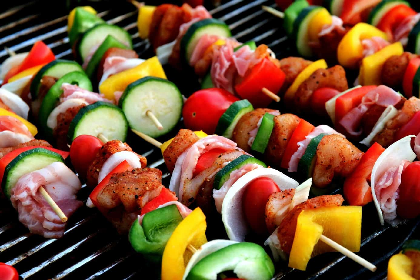 picture of grilled vegetables on skewer