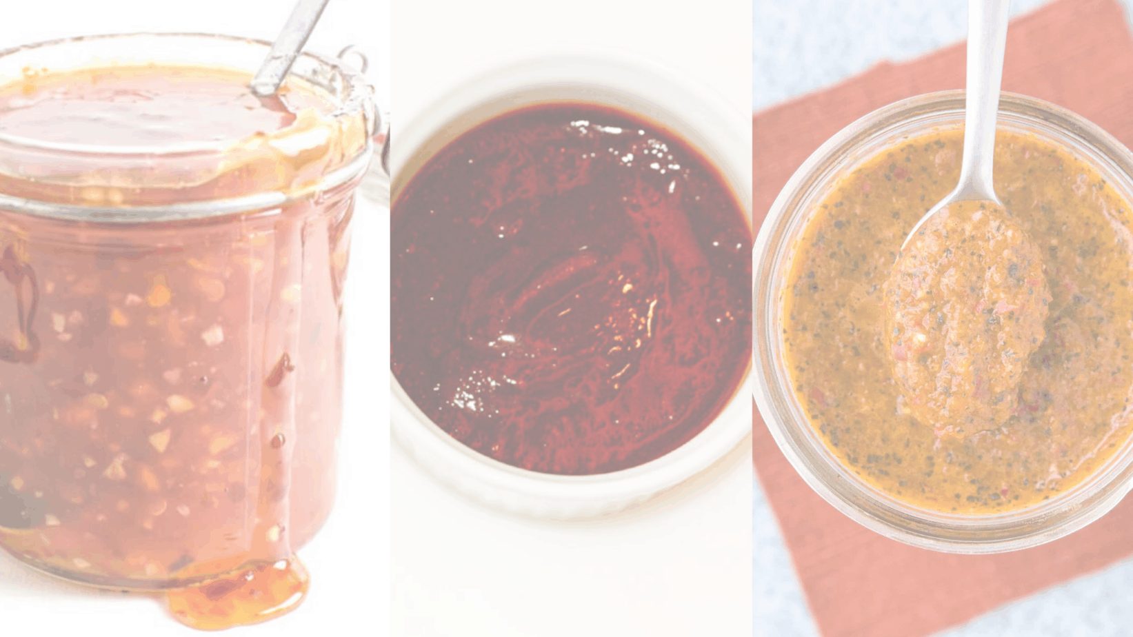picture of 3 spicy sauce recipes
