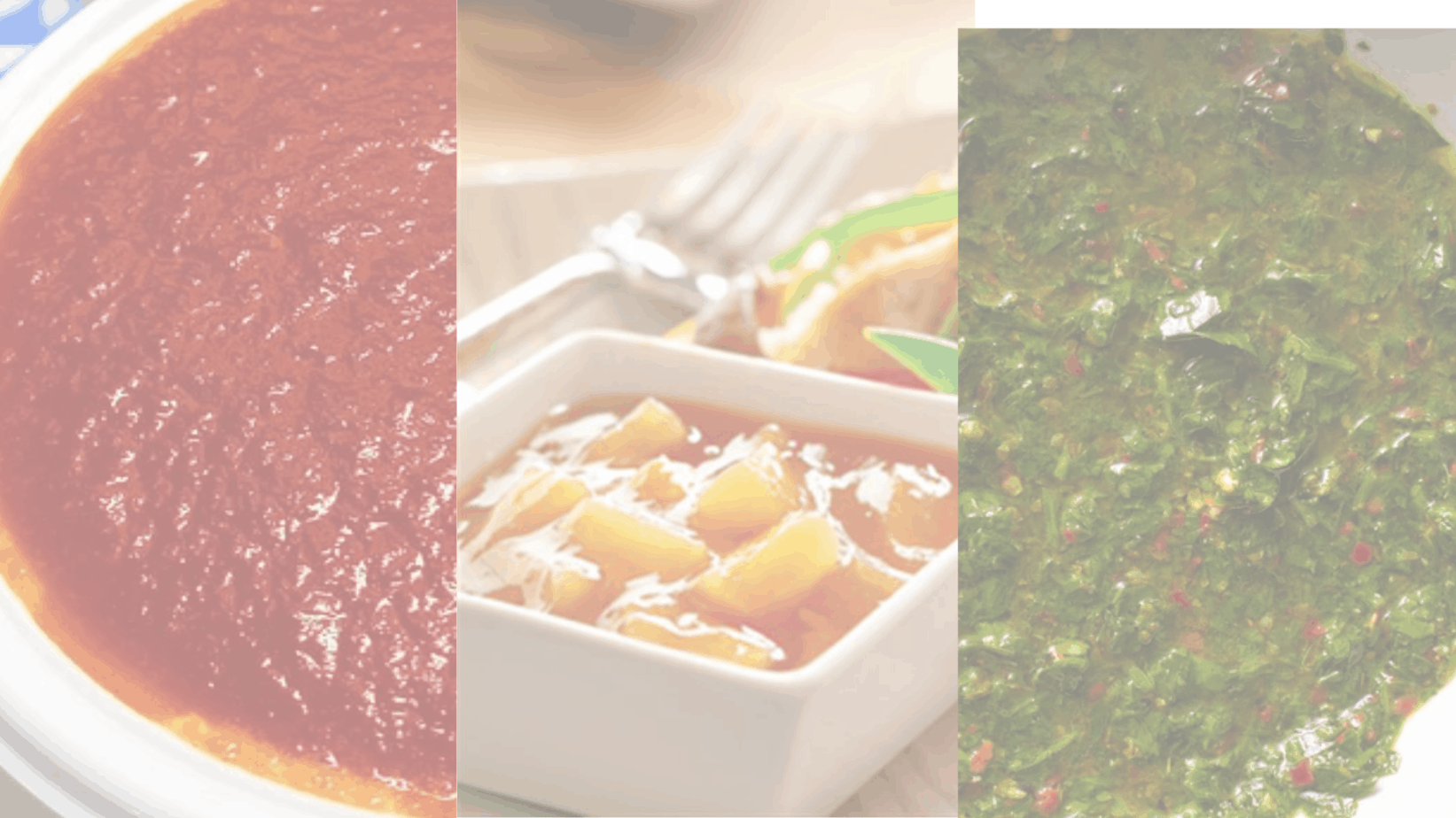 picture of three tangy sauce recipes