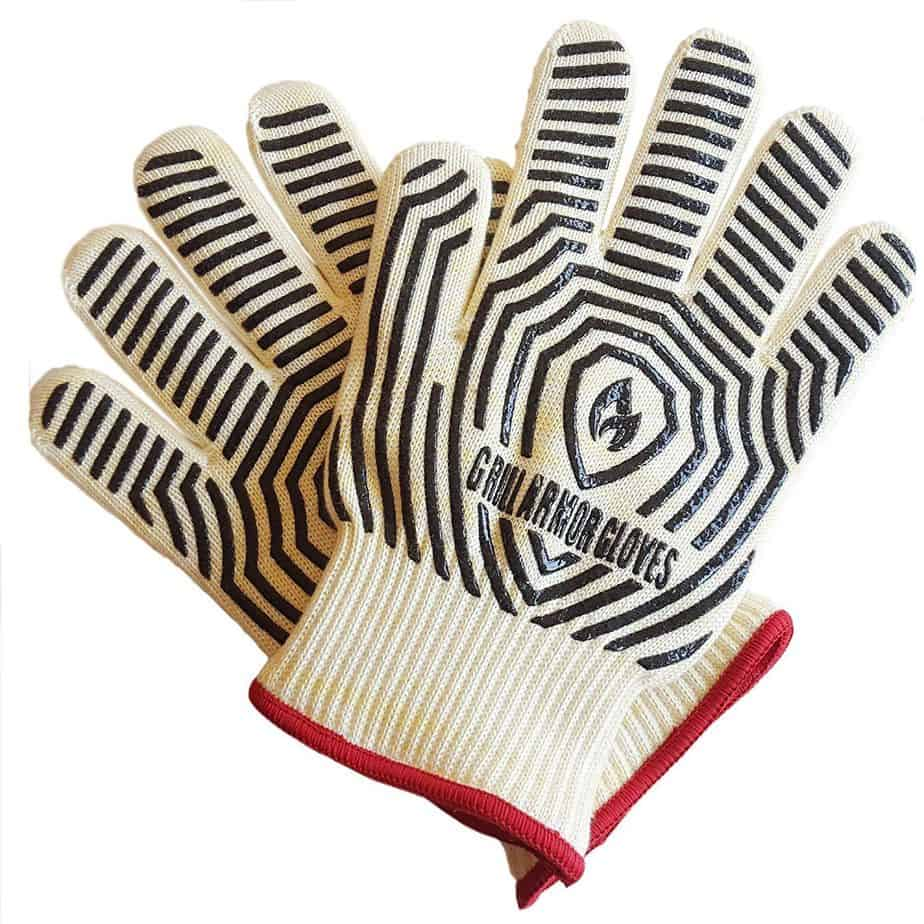 product image of Grill Armor Extreme Heat Resistant Oven Gloves - EN407 Certified 932F - Cooking Gloves for BBQ, Grilling, Baking, Red