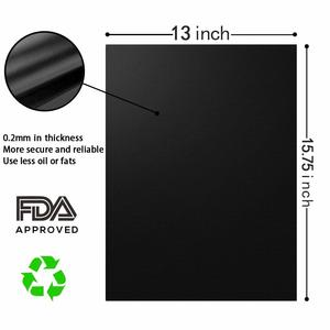 diagram of OscenLife Grill Mats - Non stick BBQ Grill Mat Set of 4