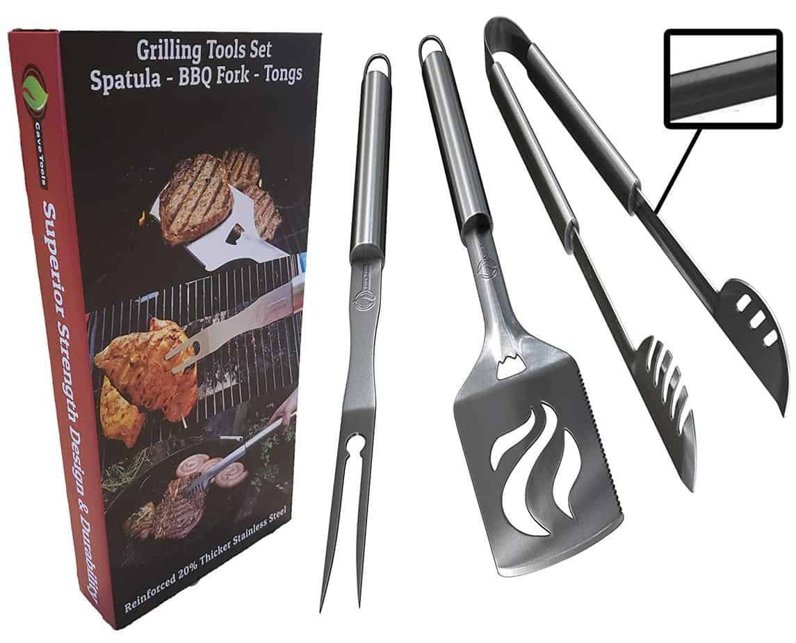 product image of Cave Tools BBQ Grilling Tools Set - 3 Piece