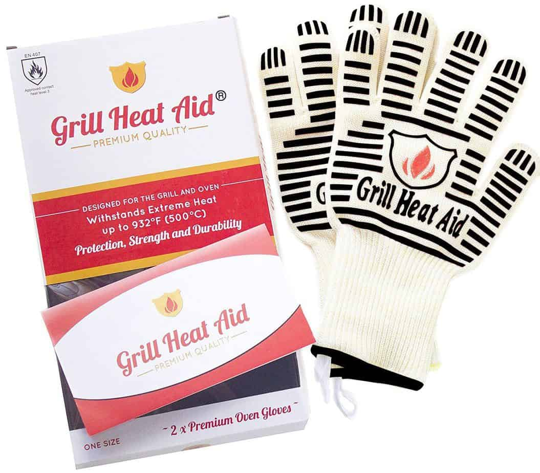 image of grill heat aid bbg gloves packaging