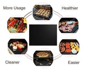 diagram of renook grill mat set of 6