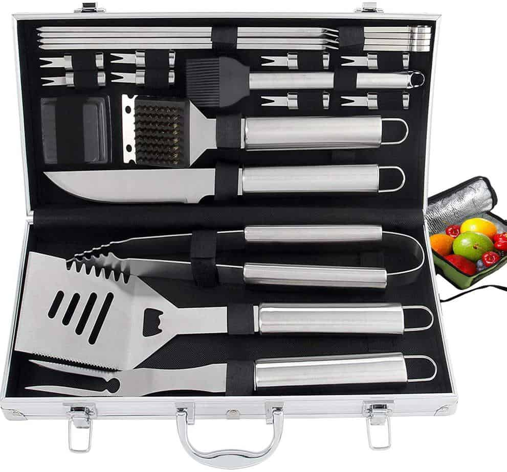 product image of ROMANTICIST 20pc Heavy Duty BBQ Grill Tool Set with Cooler Bag