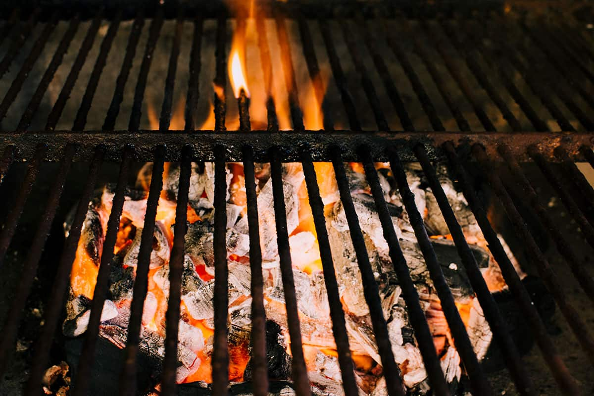 Image of a dirty grill