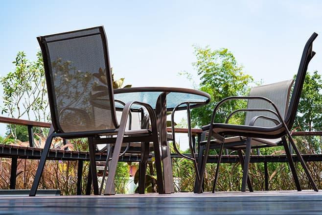 Image of steel patio furniture