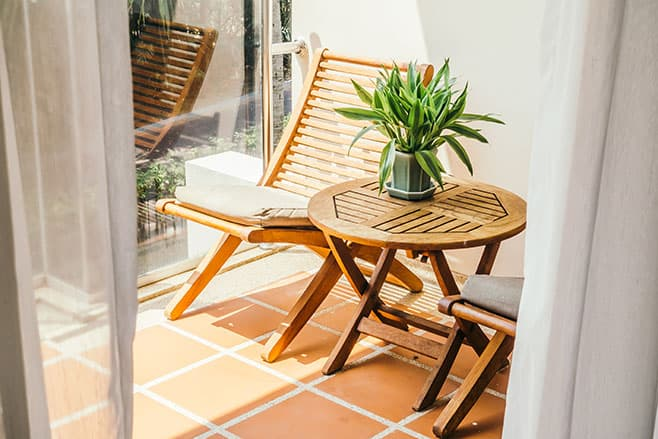 Image of Wooden Patio Furniture