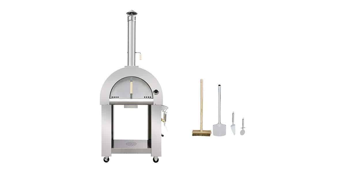 32.5 Wood Fired Stainless Steel Artisan Pizza Oven or Grill, Outdoor or Indoor
