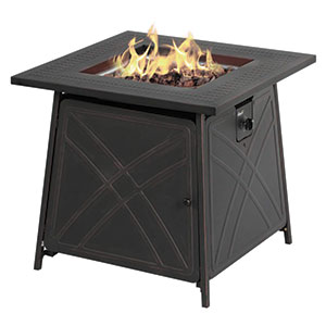 "BALI OUTDOORS Fire Pit LP Gas Fireplace 28"" Square Table Review"