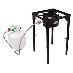 GasOne Portable Propane 100, 000-BTU High Pressure Single Burner Camp Stove & Steel Braided Regulator with Adjustable Legs Review