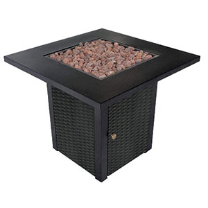 LEGACY HEATING 28-Inch Square Gas Fire Pit Table Reviews