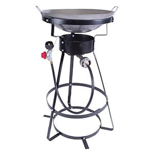 Single Burner Camp Stove with Cast Iron Burner, Wok Included Review
