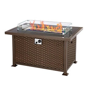 U-MAX 44in Outdoor Propane Gas Fire Pit Table Review